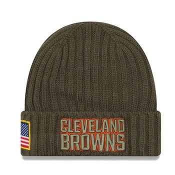 NEW ERA cleveland browns NFL military knit beanie hat Junior [khaki]
