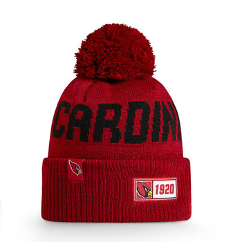 NEW ERA arizona cardinals NFL sideline sport knit bobble beanie hat [maroon]