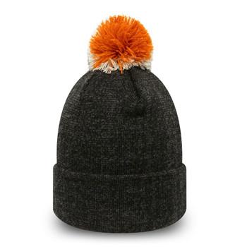 NEW ERA new york yankees MLB baseball womens cuff knit bobble hat [graphite]