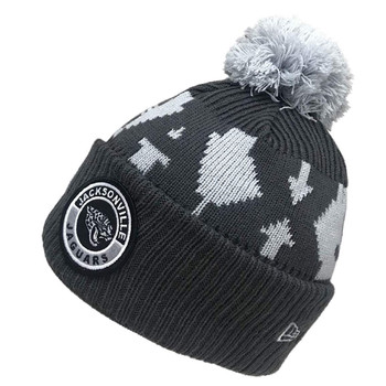 NEW ERA jacksonville jaguars NFL sideline sport knit bobble beanie hat [grey]
