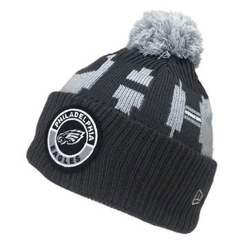 NEW ERA Philadelphia Eagles NFL sideline sport knit bobble beanie hat [Grey]
