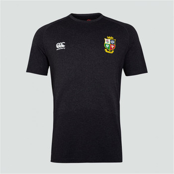 CCC british and irish lions rugby seamless training t-shirt [black]