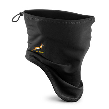 SOUTH AFRICA rugby supporters neck gaiter / face mask [black]