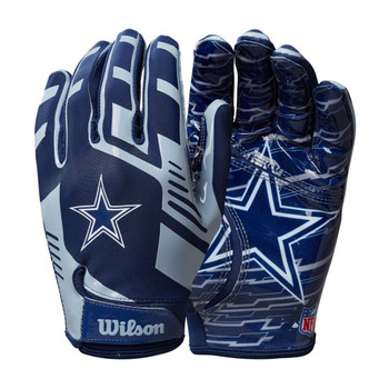 WILSON stretch fit receivers american football gloves - Dallas Cowboys [youth]