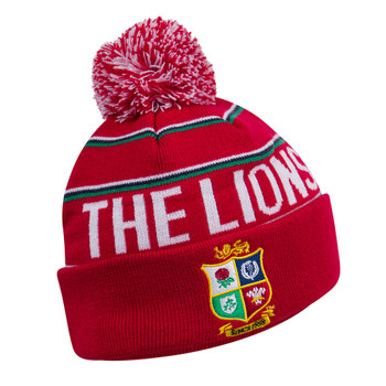 CCC british and irish lions rugby fleece lined bobble hat [red]
