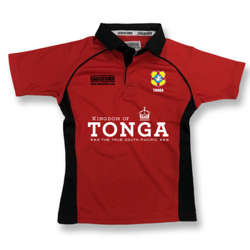 EGGCATCHER tonga rugby training shirt [red/black]