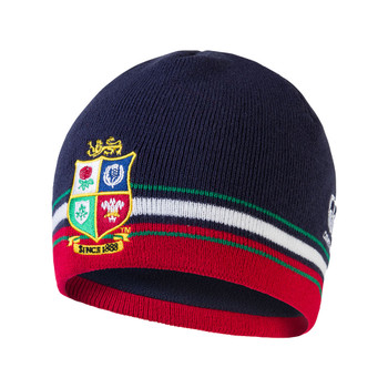 CCC british and irish lions rugby acrylic fleece lined beanie hat [navy]