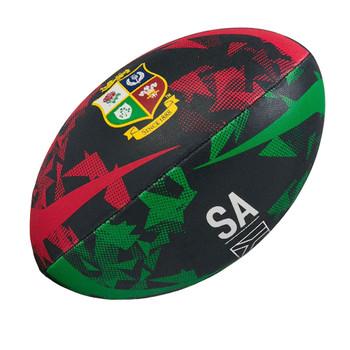 CCC british and irish lions thrillseeker origin rugby ball size 5 [black/red/green]