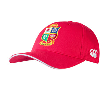 CCC british and irish lions rugby cotton drill baseball cap [red]