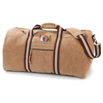 NEW ZEALAND vintage rugby dirty weekender kit bag [sand/brown]