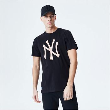 NEW ERA new york yankees logo MLB t-shirt [black/pink]