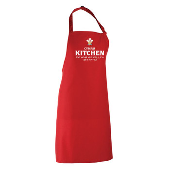 WALES rugby chefs kitchen / barbeque apron (red)