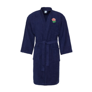 ENGLAND rugby cotton bath robe / dressing gown [navy]