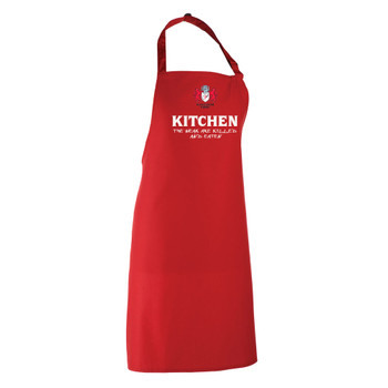 GLOUCESTER rugby chefs kitchen / barbeque apron [red]
