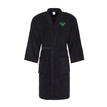 IRISH superhero cotton bath robe / dressing gown [black]