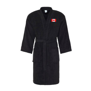 CANADA cotton bath robe / dressing gown [black]