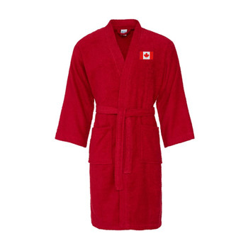 CANADA cotton bath robe / dressing gown [red]