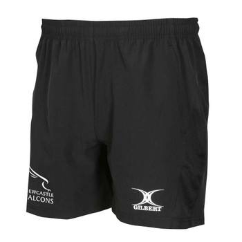 GILBERT newcastle falcons rugby vapour gym / training shorts [black]