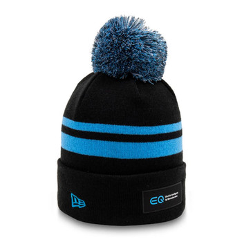 NEW ERA mercedes-benz formula E bobble knit hat [black/blue]