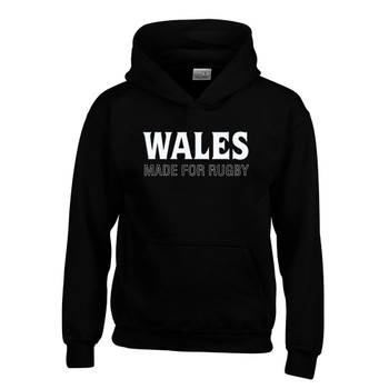 WALES rugby youth hooded sweat [black]
