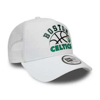 NEW ERA boston celtics NBA graphic adjustable trucker cap [white]