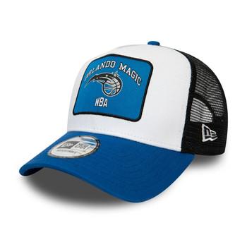 NEW ERA orlando magic adjustable patch trucker NBA basketball cap [black/blue]