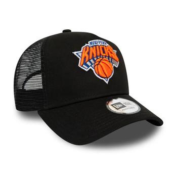 NEW ERA new york knicks NBA dark base trucker cap [black]