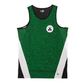 NEW ERA boston celtics all-over-print panel basketball vest [green]