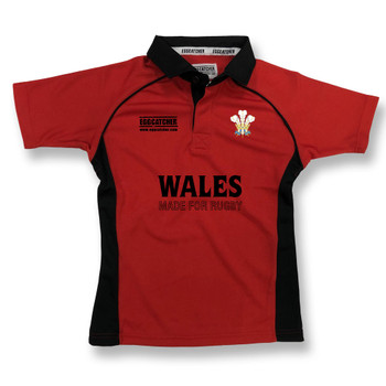 EGGCATCHER wales rugby junior training shirt [red/black]