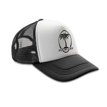 FIJI rugby retro adjustable trucker cap [black/white]