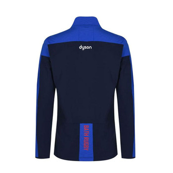 MACRON bath rugby player's training poly 1/4 zip top [blue]