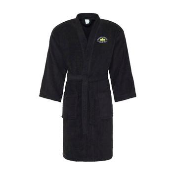 EGGCATCHER cotton bath robe / dressing gown [black] BELSIZE PARK