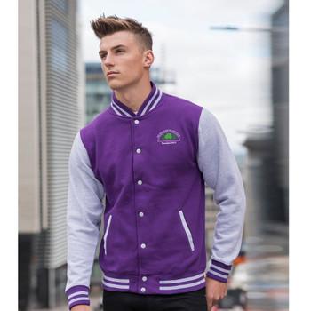 EGGCATCHER retro edition varsity jacket [purple/heather] BELSIZE PARK
