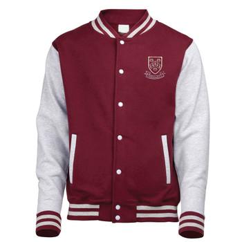 EGGCATCHER retro edition varsity jacket [burgundy/heather] CHEDDAR CRICKET