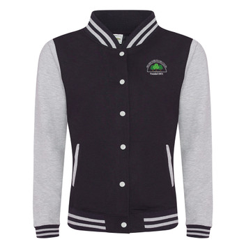EGGCATCHER retro edition ladies varsity jacket [black/heather] BELSIZE PARK