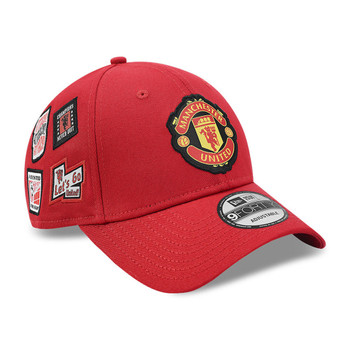 NEW ERA manchester united 9forty adjustable patch football cap [red]