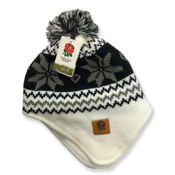 RFU england rugby women's alpine fleece lined hat [cream/black]