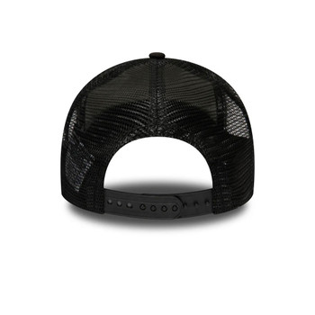 NEW ERA detroit tigers MLB cooperstown heritage adjustable A-frame trucker cap [black]