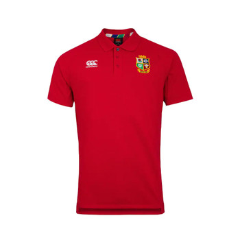 CCC british and irish lions rugby pique polo [red]