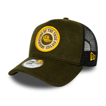 NEW ERA vintage wool patch A-Frame trucker cap [green]