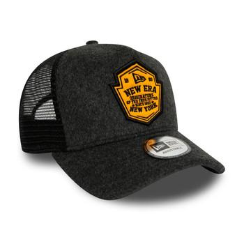 NEW ERA vintage wool patch A-Frame trucker cap [grey]