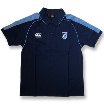 CCC cardiff blues rugby polo shirt [navy/sky]
