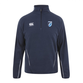 CCC cardiff blues rugby vapodri 1/4 zip mid layer training top senior [navy]