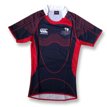 CCC queensland reds elite sublimate players rugby training jersey [navy/red]