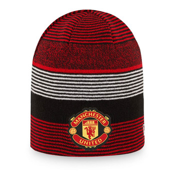 NEW ERA manchester united reversible skull knit beanie hat [black]