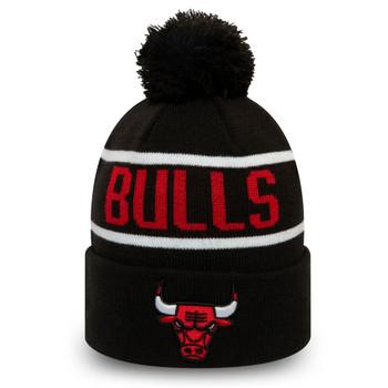 NEW ERA chicago bulls NBA knit bobble beanie hat [black/red]