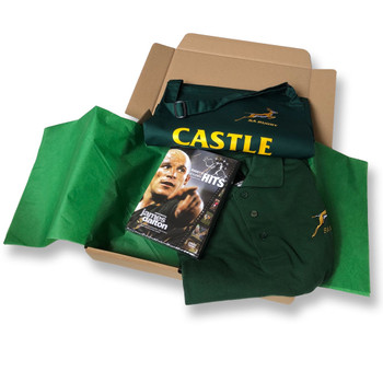 ORIGINAL Rugby South Africa Polo, Apron & DVD Gift Box V2