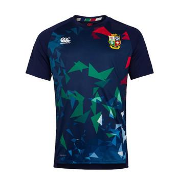 CCC british and irish lions graphic superlight training t-shirt [navy]