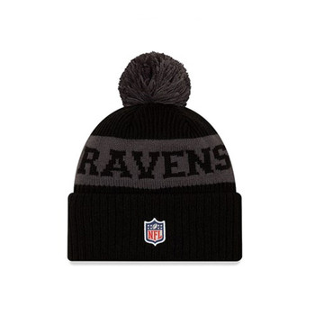 NEW ERA baltimore ravens Kids NFL bobble beanie hat [Black/grey]