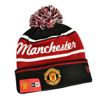 NEW ERA manchester united football wordmark bobble hat [black/red]